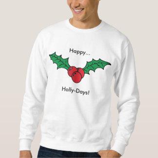 幸せなヒイラギ日のクリスマスの休日の眩惑のスエットシャツ スウェットシャツ