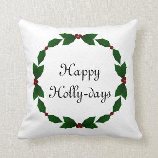 幸せなヒイラギ日のヒイラギの休日の枕 クッション