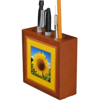 幸せなヒマワリは机のオルガナイザーを設計しました ペンスタンド