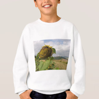 幸せなヒマワリ スウェットシャツ