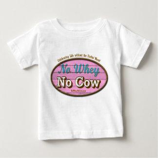 幸せなビーガンのベビーのデザイン ベビーTシャツ