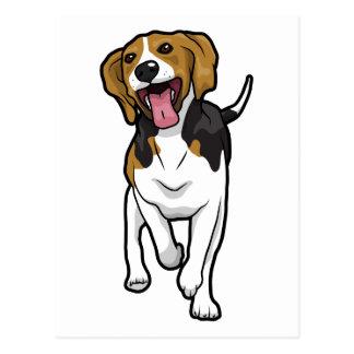 幸せなビーグル犬 ポストカード