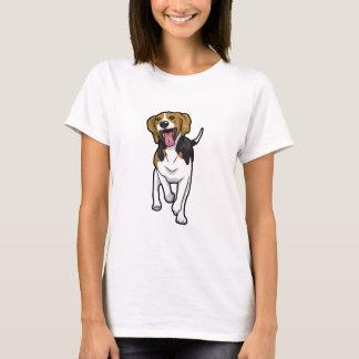 幸せなビーグル犬 Tシャツ