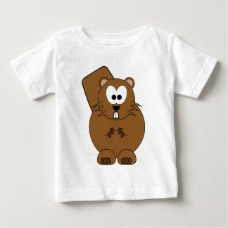 幸せなビーバー ベビーTシャツ