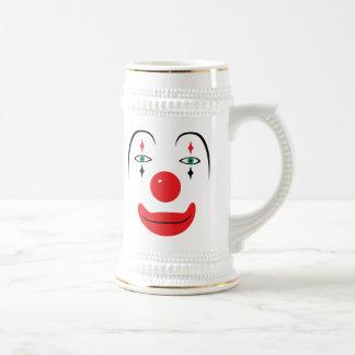 幸せなピエロの顔 ビールジョッキ
