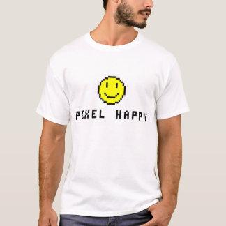 幸せなピクセル Tシャツ