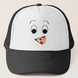 幸せなピザ顔 キャップ