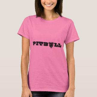 幸せなピットブルのロゴのプリント-誇りを持ったなピットブルの所有者 Tシャツ