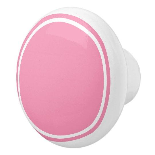 幸せなピンクおよび白 セラミックノブ