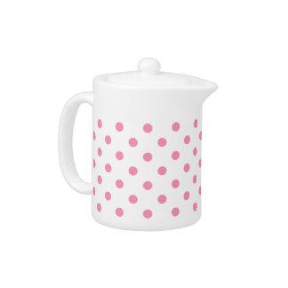 幸せなピンクの水玉模様