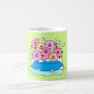 幸せなブタのマグ コーヒーマグカップ
