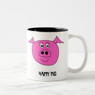 幸せなブタのマグ ツートーンマグカップ