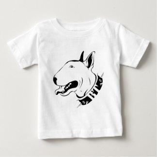 幸せなブルテリア ベビーTシャツ