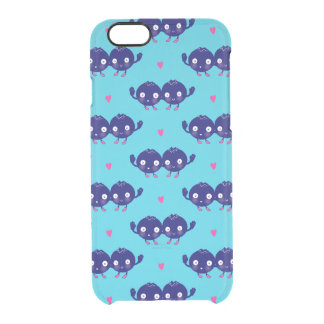 幸せなブルーベリーBFFs クリアiPhone 6/6Sケース