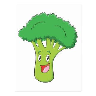幸せなブロッコリーの野菜微笑 ポストカード