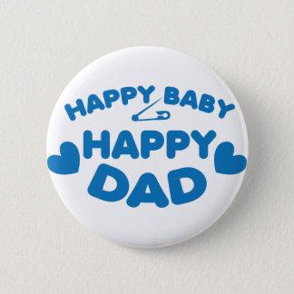 幸せなベビーの幸せなお父さん 5.7CM 丸型バッジ