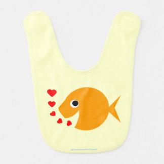 幸せなベビーの金魚のよだれかけ ベビービブ