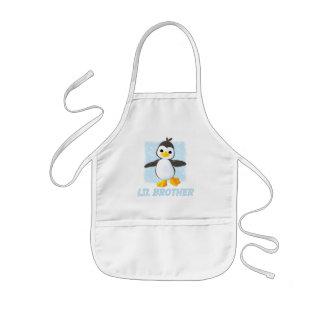 幸せなペンギンの弟 子供用エプロン