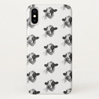 幸せなホルスタインDairyPreserver (白い) iPhone X ケース