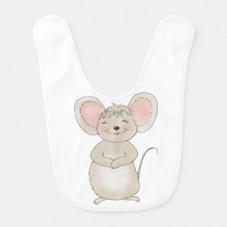 幸せなマウスのベビー用ビブ ベビービブ