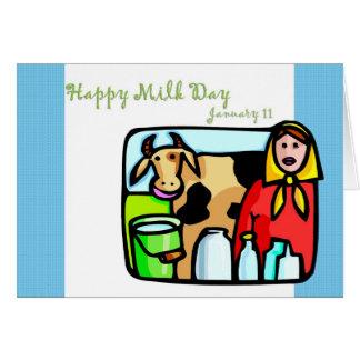 幸せなミルク日1月11日 カード