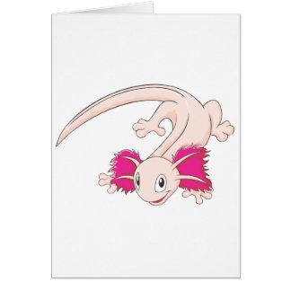 幸せなメキシコアホロートルのトカゲの漫画 カード