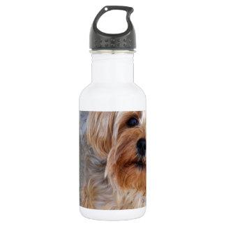 幸せなヨークシャーテリアの子犬 ウォーターボトル