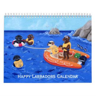 幸せなラブラドールのカレンダー2017年のA カレンダー