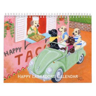 幸せなラブラドールのカレンダー2017年のC カレンダー