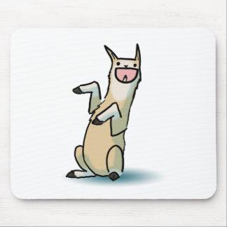 幸せなラマ マウスパッド