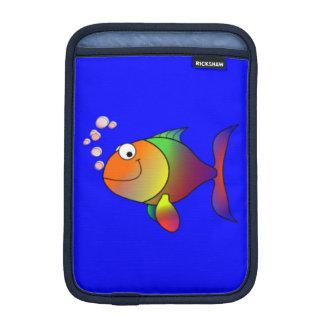 幸せなレインボーフィッシュ iPad MINIスリーブ