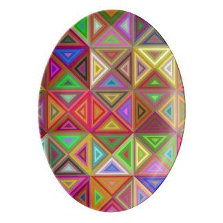 幸せな三角形のモザイク 磁器大皿