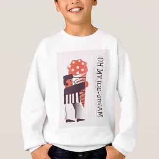 幸せな人生のアイスクリーム スウェットシャツ