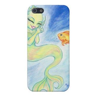 幸せな人魚および魚のiPhoneの場合 iPhone 5 Cover