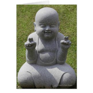 幸せな仏の石造りの彫像 カード