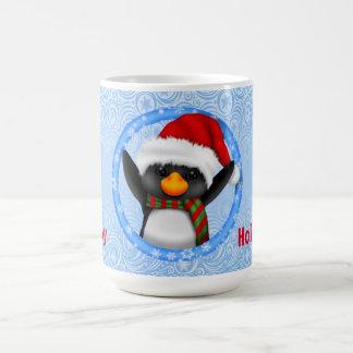 幸せな休日のかわいいペンギン コーヒーマグカップ