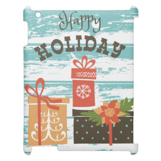 幸せな休日のクリスマスの休日のプレゼント iPadカバー