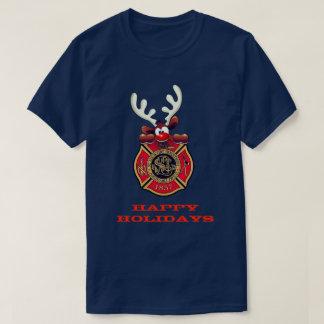 幸せな休日のトナカイのセントルイスの消防署 Tシャツ