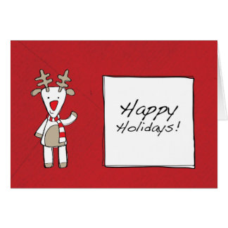 幸せな休日のトナカイ カード