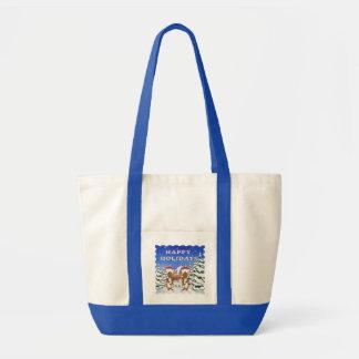 幸せな休日のネズミのバッグ トートバッグ