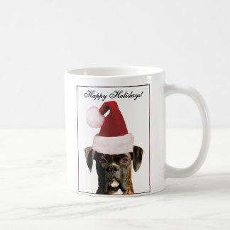 幸せな休日のボクサー犬のマグ コーヒーマグカップ