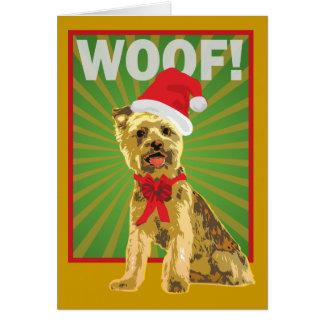 幸せな休日のヨークシャーテリア犬 カード