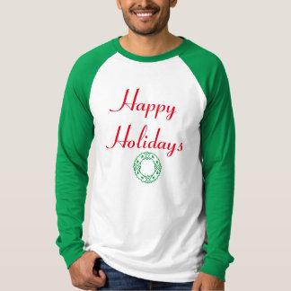 幸せな休日のリース Tシャツ
