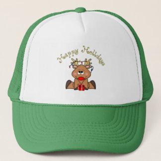 幸せな休日のルディのトナカイの帽子 キャップ