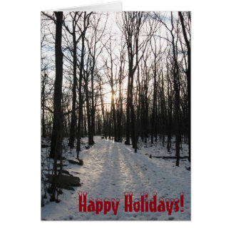 幸せな休日の冬の木 カード