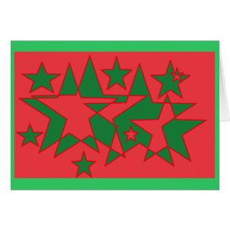 幸せな休日の星 カード