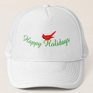 幸せな休日の(鳥)ショウジョウコウカンチョウの帽子 キャップ