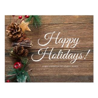 幸せな休日は、願いを暖めます ポストカード