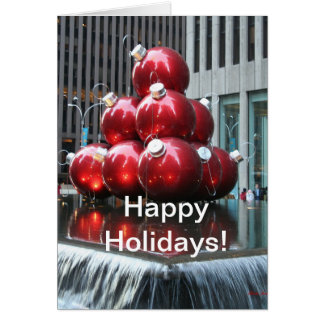 幸せな休日カードロックフェラー中心のニューヨーク カード