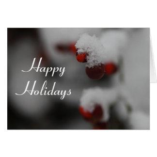 幸せな休日カード カード